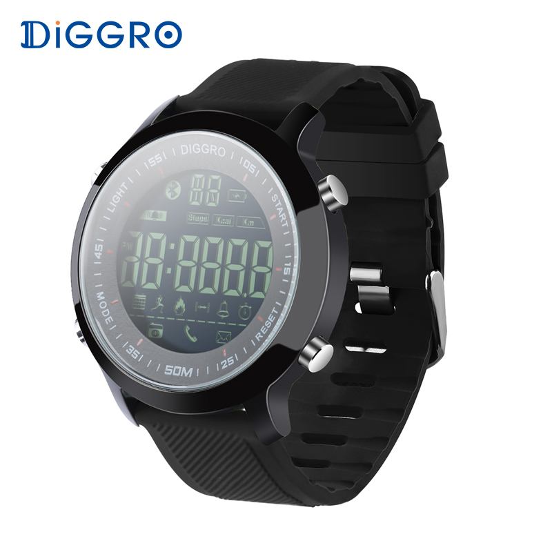 все цены на Diggro EX18 Smart Watch Waterproof IP68 5ATM Passometer Message Reminder Ultra-long Standby Swimming Sports Activities Tracker онлайн