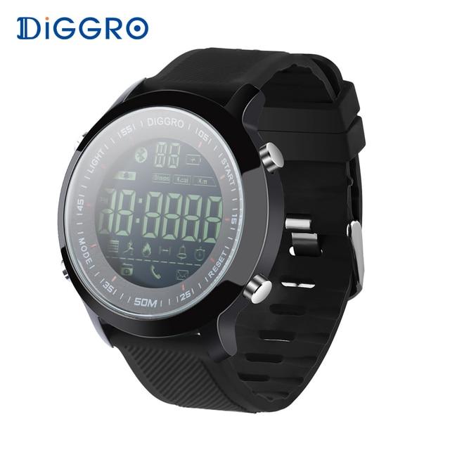 Diggro EX18 Smart Watch Waterproof IP68 5ATM Passometer Message Reminder Ultra-long Standby Swimming Sports Activities Tracker