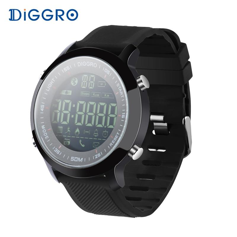Diggro EX18 font b Smart b font font b Watch b font Waterproof IP68 5ATM Passometer