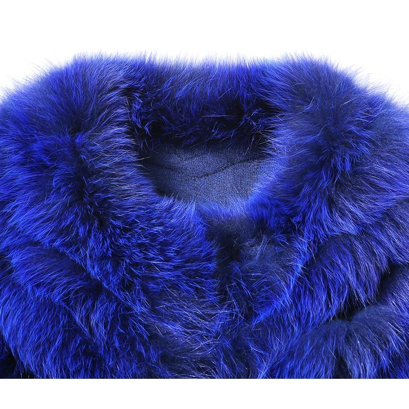 HDHOHR 2019 բարձրորակ Fox Fur Vest Long Fox Warm Women - Կանացի հագուստ - Լուսանկար 5