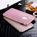 Espumante glitter bling shinning menina soft gel tpu soft case capa para apple iphone 5 5s se/6 6 s/6 7 plus 6 s plus