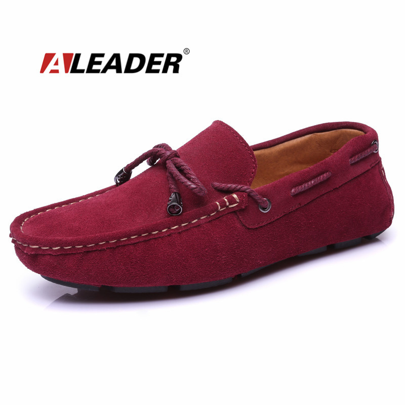 Casual Suede Leather Mens Loafers 2015 Autumn Slip On Flat Driving Shoes Men Shoes Moccasins Boat Shoes Knot zapatos hombre hot high quality men loafers leather round toe slip on casual shoes man flats driving shoes hombre zapatos comfortable moccasins