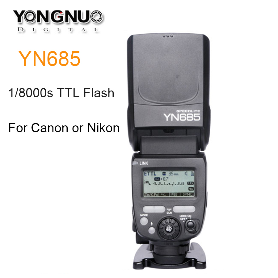 YONGNUO YN685 Wireless 2.4G HSS 1/8000s TTL/iTTL Speedlite Flash for Canon Nikon support YN560IV YN560-TX RF605 RF603 YN685C/N YONGNUO YN685 Wireless 2.4G HSS 1/8000s TTL/iTTL Speedlite Flash for Canon Nikon support YN560IV YN560-TX RF605 RF603 YN685C/N