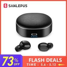 SANLEPUS СПЦ 5,0 Mini Bluetooth наушники Беспроводные спортивные наушники 3D стерео гарнитура шум Отмена наушники с микрофоном