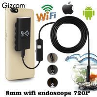 Wifi Wireless For IOS Android Endoscope HD 720P 2 0MP 8mm 5M Waterproof Camera