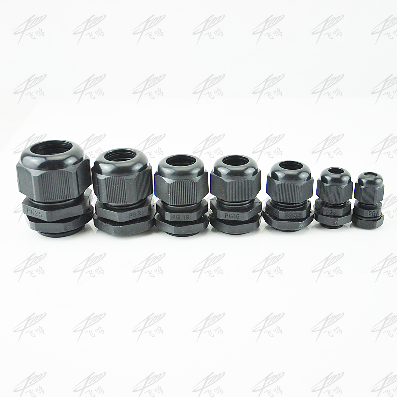 10pcs Black Nylon Strain Relief Glands Connector PG7 PG9 PG11 PG13.5 PG16 PG19 PG21 PG25 цена