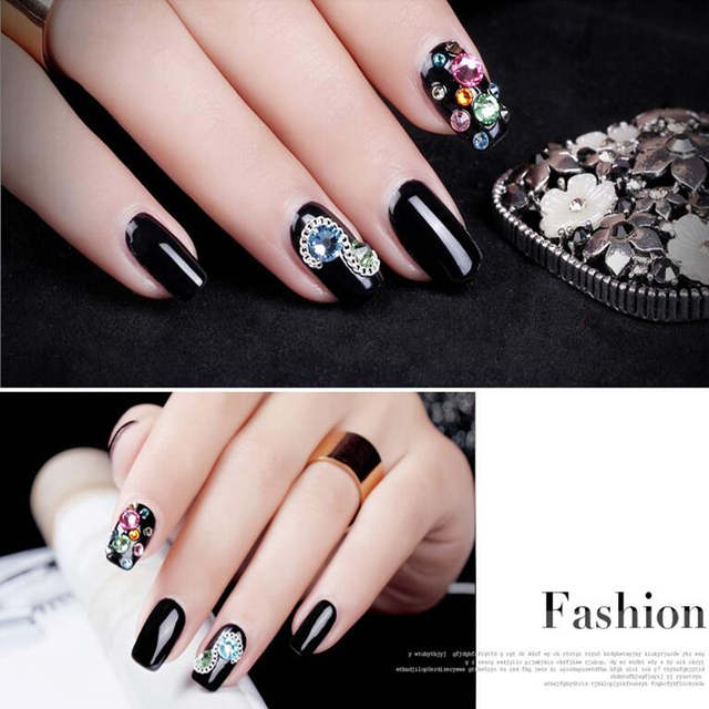 51abe3c10f US $1.6 20% OFF Wholesale 1440 pcs /pack SS3 crystal Multicolor ( 3d Nail  Art decorations ) Non Hot Fix Glue on rhinestones for nails stone DIY-in ...