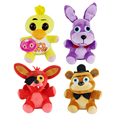 4 unids/lote 2016 Cinco Noches en Freddy Felpa kids Toys15cm/25 cm Kawaii Oso y el zorro y el Pato y Conejo Niños Muñecos De Peluche Para los niños regalos