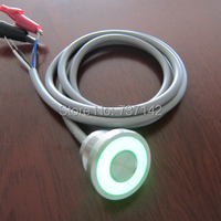 ELEWIND 316L Stainless Steel IP68 Waterproof Large Ring Illuminated Piezo Switch 22mm PS225P10YSS1G05L With 1M Cable