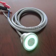 ELEWIND 316L edelstahl IP68 Wasserdicht Große ring beleuchtet piezoschalter (22mm, PS225P10YSS1G05L Mit 1 Mt Kabel, Rohs, CE)