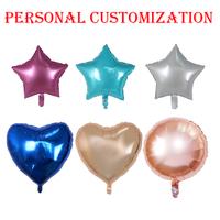 500pcs 18inch Party Balloons Personal customization Foil Balloons Printing Logo Round Heart Star Shape Advertising Balloon