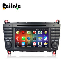 Beiinle Car 2 Din Android QUAD CORE 1024*600 DVD GPS Radio Stereo Navigator for Benz C Class W203 CLK W209
