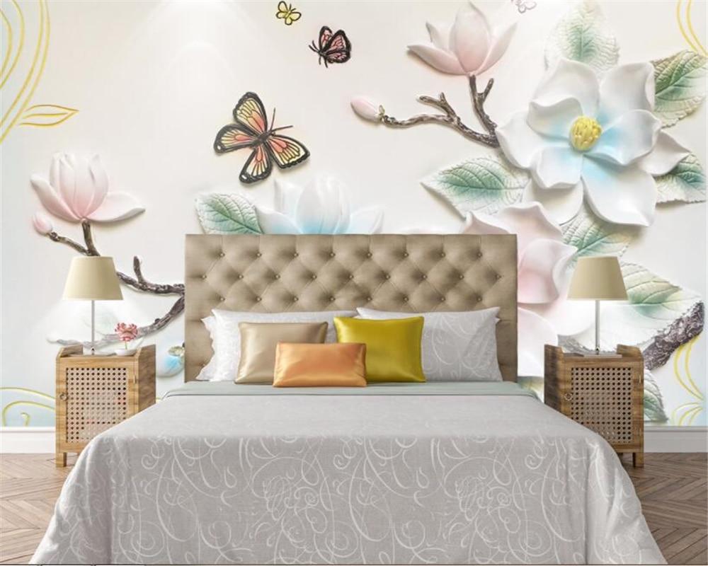 Fam Lia Moderna Sala Decora O Mural Papel De Parede 3d Relevos  -> Papel De Parede Sala Floral