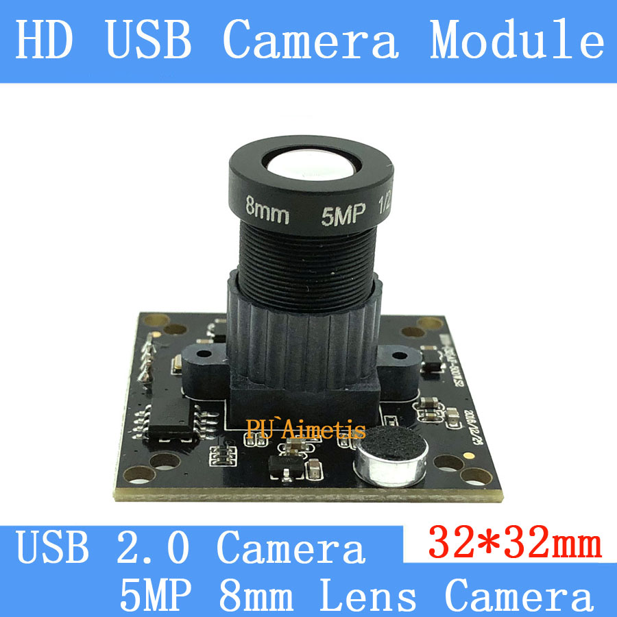 PU Aimetis 32 32mm Industry Surveillance camera HD 5MP 8MM lens 45 degrees 30FPS Linux UVC