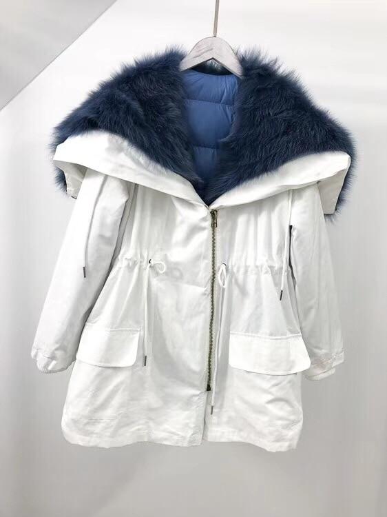 Bas Veste Amovible Nouveau Doublure Casual 3 Parkas D'hiver Col Réel Vers Manteau Streetwear Véritable 3 2018 Survêtement Dans Le 1 Raccoonfur 2 1 4 Femmes dqvnf7dwR