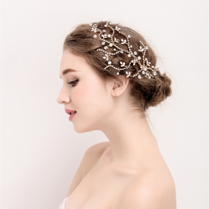 Crystal Rhinestone Wedding Bridal Hair Stick
