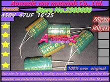 Aoweziic {20 STÜCKE} {50 STÜCKE} 450 V 47 UF 16*25 hochfrequenten geringen widerstand elektrolytkondensator 47 UF 450 V 16x25