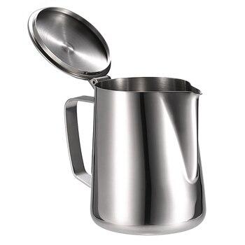 נירוסטה חלב מקציף כד חלב קצף מיכל חלב כוס אספרסו כוסות מדידה קפה מכשיר מטבח קינוח כלים