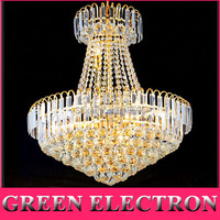 Royal Empire Golden Crystal Chandeliers Duplex Stairs Light LED K9 Crystal Pendant Lamp D600mm X H700mm