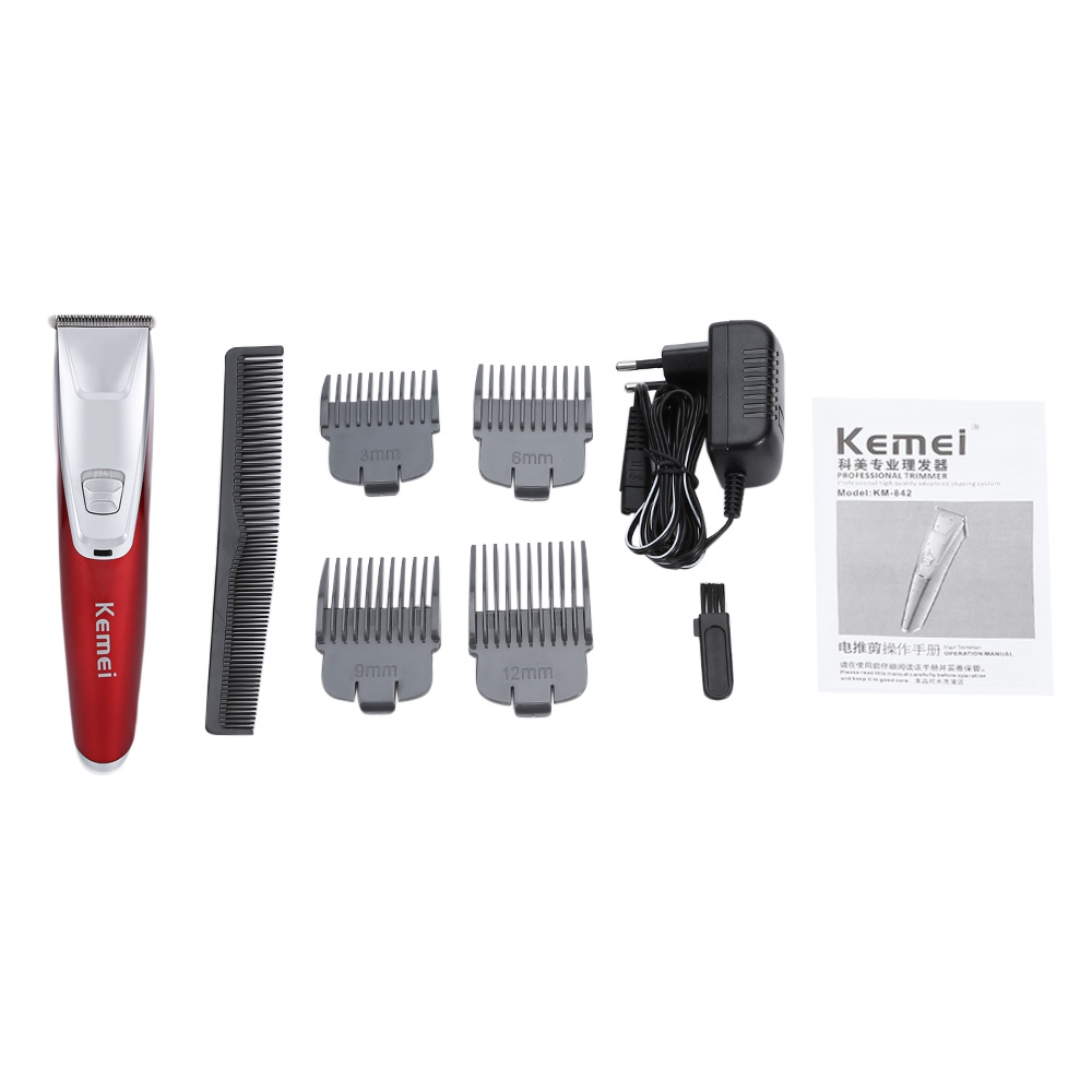 Kemei KM- 842 Waterproof Electric Hair Clipper razor Child Baby Men Rechargeable hair trimmer shaver cutting machine Haircut Kit t108 kemei men clipper hair trimmer beard professional rechargeable baby electric razor cutter hair cutting machine haircut