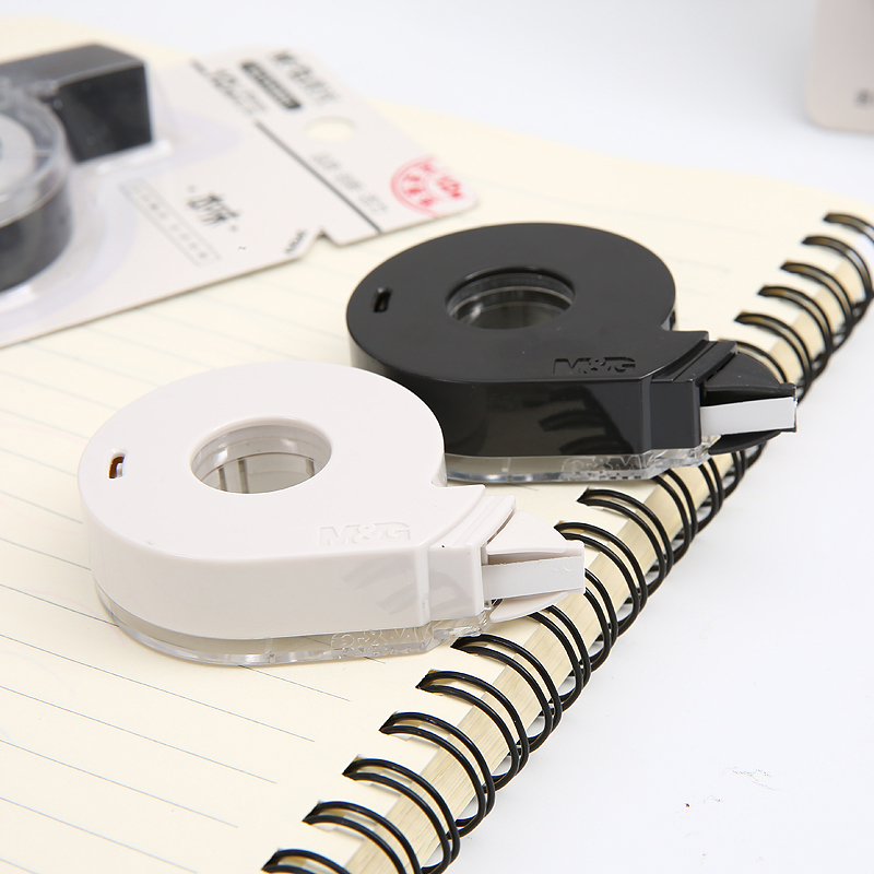 2pcs/lot Students Creative Design Stationery Supplies Pure Color Correction Tapes Black And White 12 M