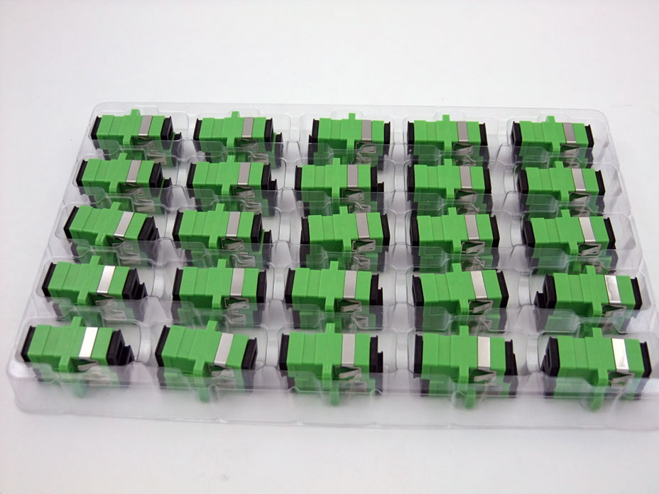 Special Wholesale HOT SALE New SC/APC Fiber Optical Connector Flange Head  Adapter Coupler Square Joint 100pcs/lots FOR Russia
