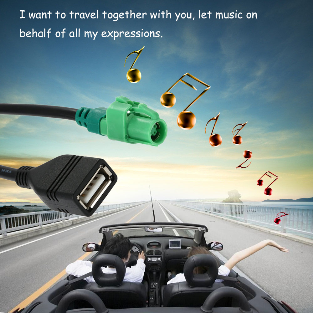USB Input Cable Wire Harness CD Player Aux Adapter for BMW 3 5 ...