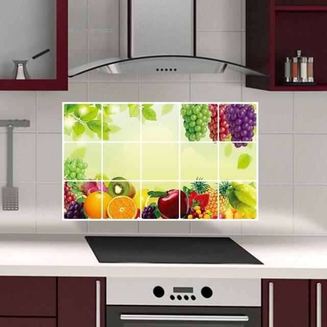 Uva home decor wall stickers per la parete della cucina - Wall stickers per cucina ...