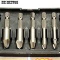 5 unids/set removedor herramienta de perforación tornillo fácil de sacar velocidad Extractor Set 1/4 vástago hexagonal con cajas juegos de herramientas de madera