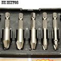 5PCS/Set Remover Drill Tool Screw Easy Take Out Speed Extractor Set 1/4 Hex Shank With Cases Wood Tools Sets