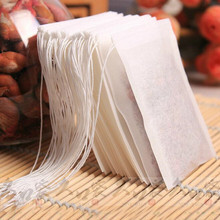 A one-time Draw Thread Empty Teabags 100Pcs/Lot Tea Bags Filter Paper Teabag for Herb Loose Tea Free Shipping