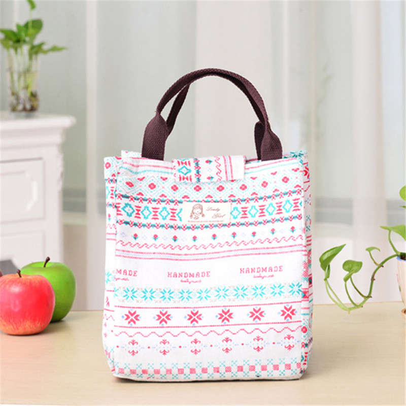 Mrosaa 1PC Hand-held Lunch Box Tote Bag Travel Picnic Cooler Insulated Handbag Waterproof Lunch Storage Containers
