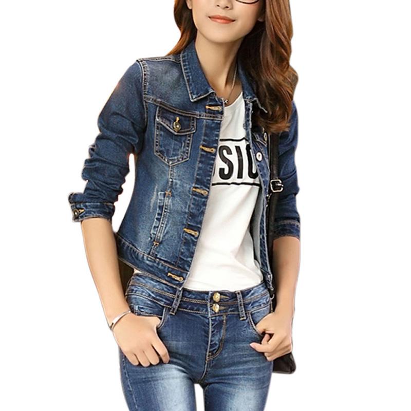 Popularne Womens Denim Jackets- kupuj tanie Womens Denim Jackets ...