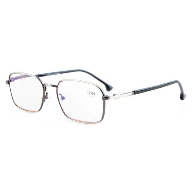 Eyekepper piccola lente senza montatura occhiali da lettura per uomini e donne in legno Tempio di armi e la primavera Cerniere oro 1,25
