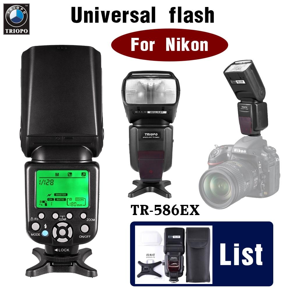 TRIOPO TR-586EX For Nikon Wireless TTL Flash Speedlite Hot shoe flash High Speed Sync Stroboscopic Flash D810 D7100 D90 D5300