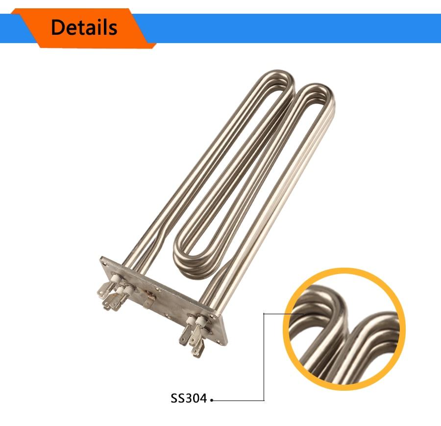 Isuotuo 304 нержавеющая сталь M-type нагревательный элемент сухая горящая труба воздушный нагревательный элемент Squareness трубка