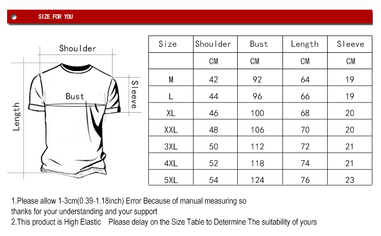 Bleach T-shirt Size for You