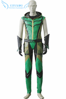 Newest High Quality Smallville Oliver Queen/GreenArrow Jumpsuit Uniform Cosplay Costume ,Perfect Custom For You !
