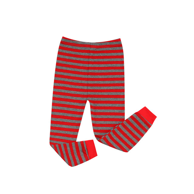 Online Shop Red and Gray Striped Pajamas Kids Christmas Pajama Sets ... b616185f9