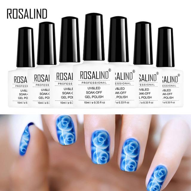 ROSALIND Gel 1S 10ML Newest Blossom Gel Polish DIY Nail Art Design Blooming Effect Long Lasting  Soak Off UV Gel Nail polish