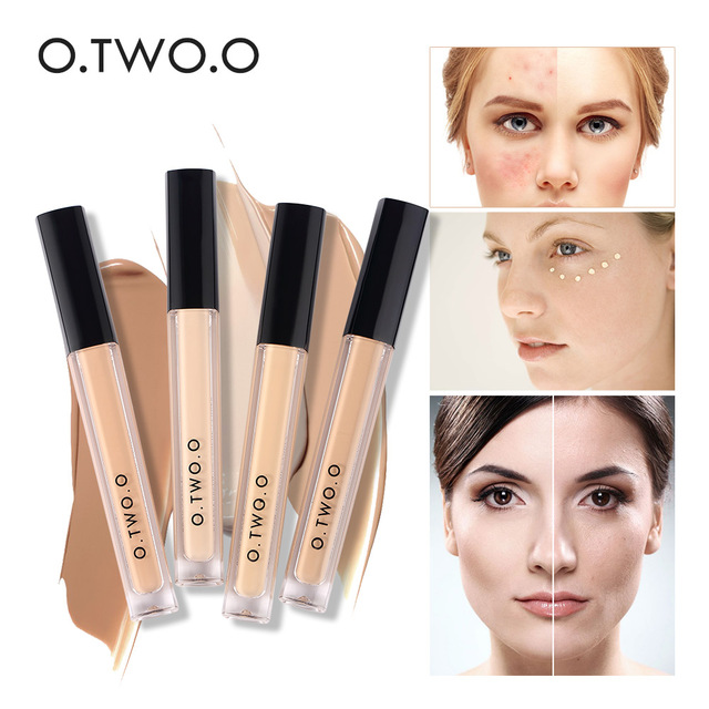 O.TWO.O Makeup Concealer Liquid Convenient Full Coverage Eye Dark Circles Blemish 4 Colors New Dark Skin Face Contour Cosmetics