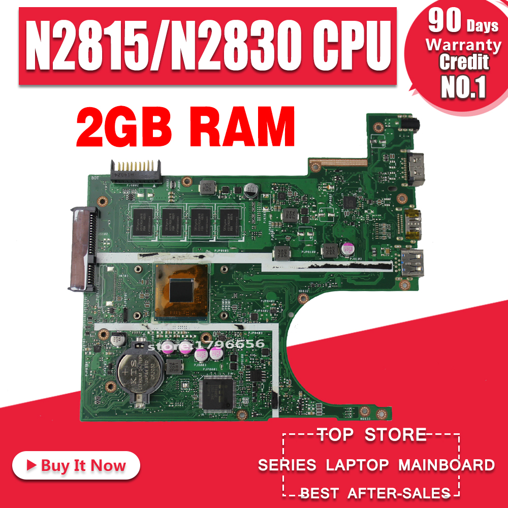 N2815 N2830 CPU 2Gb X200MA Motherboard REV2 1 For ASUS K200MA F200M laptop Motherboard X200MA Mainboard