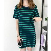Maternity Nursing Dresses 2019 Summer O-Neck Clothes For Pregnant Women Stripped Short Sleeve Pregnancy Clothing Outwear C0009 стоимость