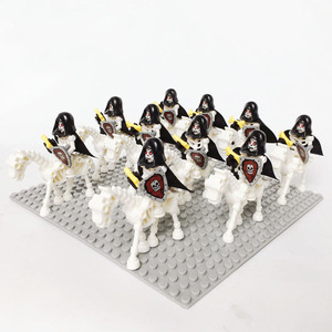Image 2 - 10 مجموعة/وحدة قلعة فرسان الهيكل العظمي ريبر القرون الوسطى الهيكل العظمي الخيول قوالب بناء 9462 تجميع كتل ألعاب أطفال جديد