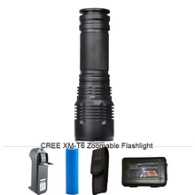 6000 Lumens CREE XM-T6 Zoomable 5 Modes LED Flashlight Tactical Lantern Waterproof Torch Camping Flash Light for 26650/18650/AAA