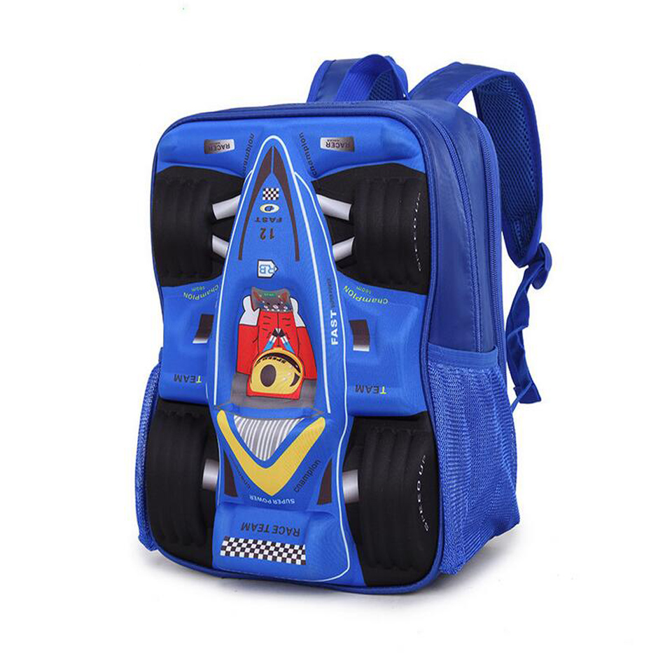 2355e9c6ec94 Aliexpress.com   Buy 3D Cartoon Big Capacity Russia Style Orthopedic School  bags For Boys Car Ultralight Waterproof Backpack Child Kids School bag from  ...