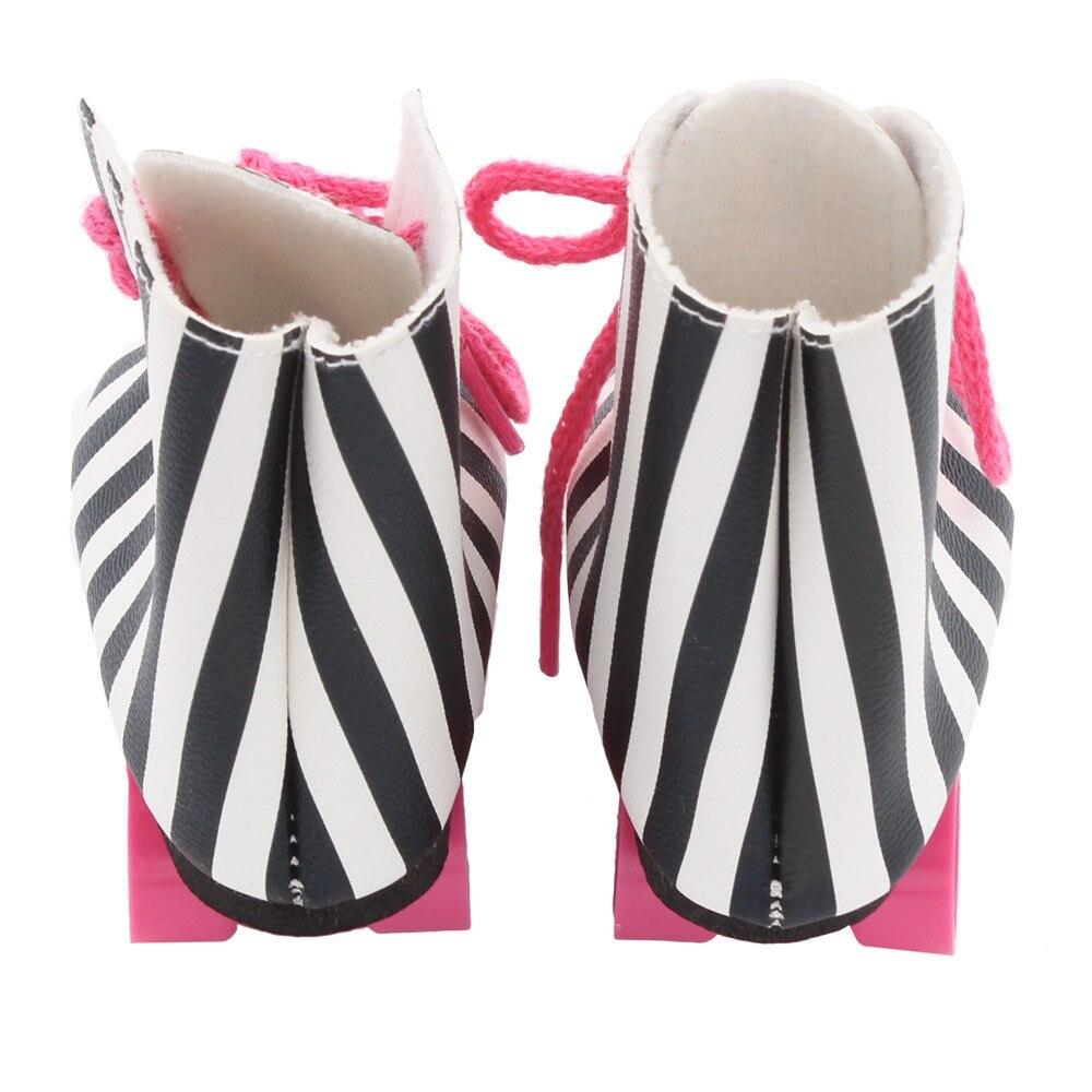 Горячая Распродажа кукла обувь однотонные шлепанцы для 18 дюймов нашего поколения Americ ...