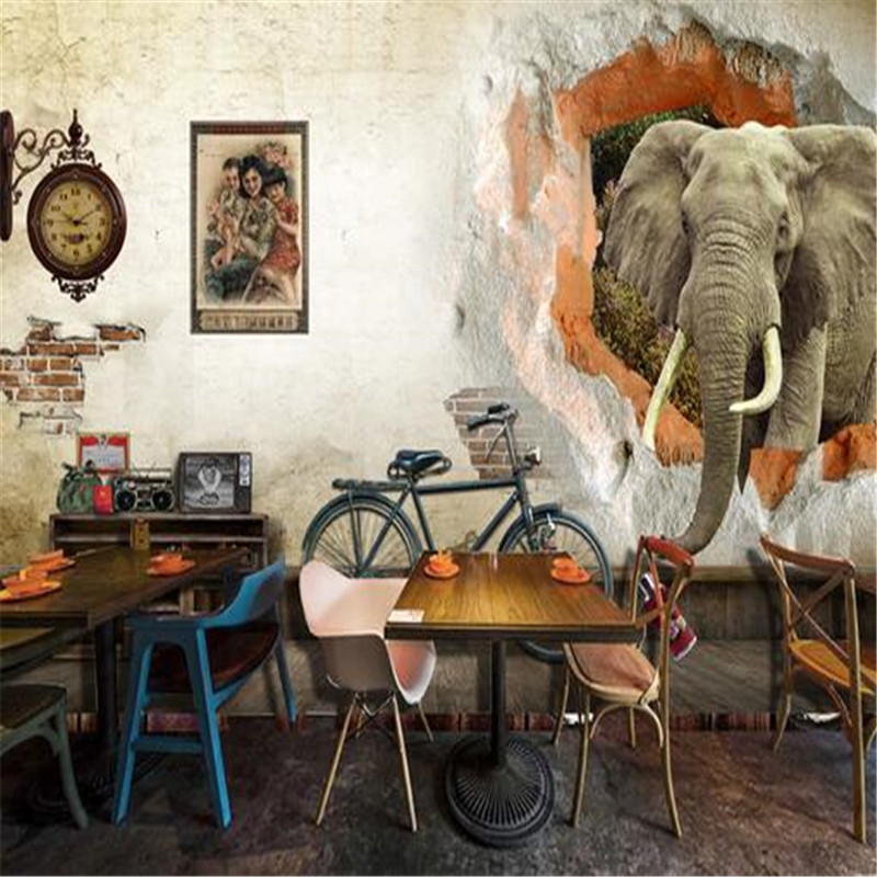 custom 3d photos wallpaper old wall elephant 3d TV background wall painting 3d mural wallpaper family decorating wallpaper free shipping hepburn classic black and white photos wallpaper old photos tv background wall mural wallpaper