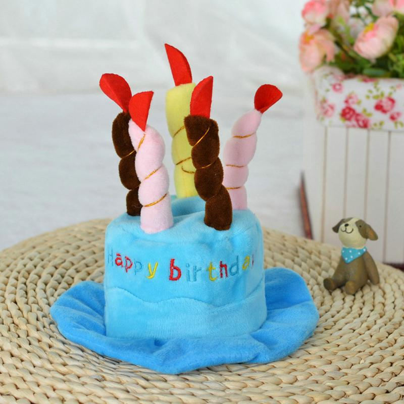 Cute Pet Dog Cake Shape Hat Puppy Supplies Accessories Happy Birthday For