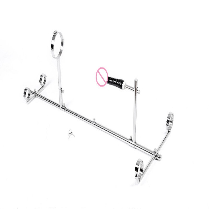 New sex love machine stainless steel metal bdsm bondage collar handcuffs slave restraint SM erotic Solid frame Sex toy for womenNew sex love machine stainless steel metal bdsm bondage collar handcuffs slave restraint SM erotic Solid frame Sex toy for women